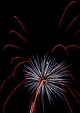 Fireworks. Multiple fireworks on black sky royalty free stock photos