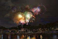 Fireworks. Celebrating Australia Day in Melbourne 2007 Stock Photography