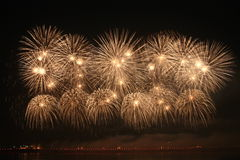 Fireworks. Colorful fireworks over a night sky - EXTRA LARGE Royalty Free Stock Photography