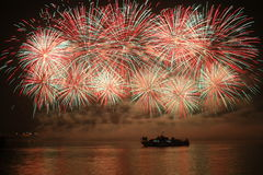 Fireworks. Colorful fireworks over a night sky - EXTRA LARGE Stock Photography