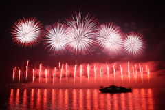 Fireworks. Colorful fireworks over a night sky - EXTRA LARGE Stock Images