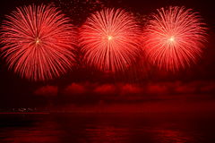 Fireworks. Colorful fireworks over a night sky - EXTRA LARGE Royalty Free Stock Image