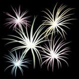 Fireworks 2. Set of fireworks, part 2,  illustration additional Stock Images