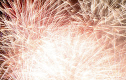 Fireworks 2. Airburst fire works in going off filling up the sky Royalty Free Stock Photos