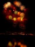 Fireworks 2. Multi Blast of Fireworks Stock Photos