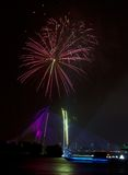 Fireworks at 2011 Putrajaya Floria Festival Royalty Free Stock Photography