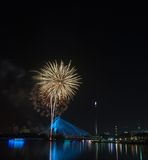 Fireworks at 2011 Putrajaya Floria Festival Royalty Free Stock Photo