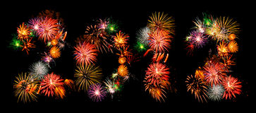 Fireworks 2012 Royalty Free Stock Images