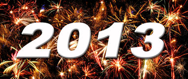 Fireworks 2013. Happy new year 2013 fireworks royalty free stock images