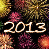 Fireworks 2013 New Year Background Stock Image