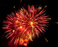 Fireworks. Display photographed at a US Fourth of July celebration stock photo