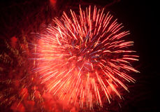 Fireworks. Display photographed at a US Fourth of July celebration Stock Image