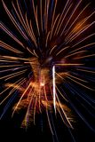 Fireworks. Colorful fireworks display on New Years night Stock Photography