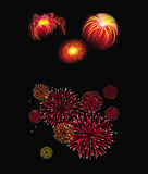 Fireworks. Cartoon illustration of a fireworks collection Stock Photo