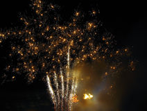 Fireworks. Fire works at night royalty free stock image