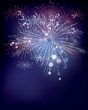 Fireworks. Colorful bright fireworks on blue sky Royalty Free Stock Images