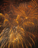 Fireworks. Bursting in air, Fourth of July Celebration Stock Photos