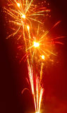 Fireworks. Spectacular fireworks is great visual fun for eyes as a culmination of New Year celebration Stock Photos