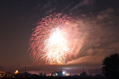 Fireworks. A beautiful full display of fireworks Royalty Free Stock Image