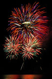 Fireworks. At pattaya in thailand stock photography