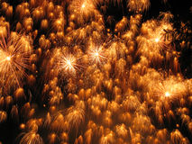 Fireworks. Photo of competitive fireworks show. Leading firework companies from all over the world competing against each other with a 10 minute firework display Royalty Free Stock Image