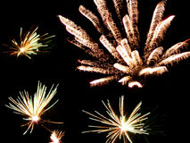 Fireworks. A nice fireworks by Silvester Royalty Free Stock Photos