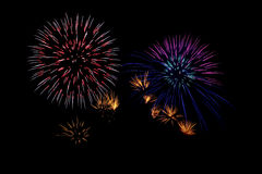 Fireworks. An image of fireworks at night Stock Photos