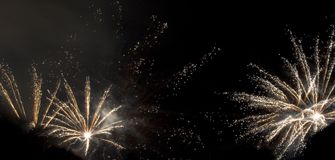 Fireworks (2574). Celebratory fireworks late at night Stock Photos