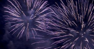 Fireworks (2596). Blue and purple fireworks at night Royalty Free Stock Photos