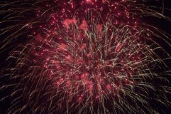 Fireworks. A delicate burst of fireworks in the night sky Royalty Free Stock Images