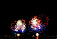 Fireworks. Firework at International firework celebration in Pattaya, Thailand Stock Photography