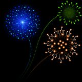 Fireworks. Abstract Background Illustration, Vector Stock Photo