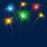 Fireworks. Holiday Background Illustration, Vector Stock Photos