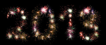 Fireworks. New year 2013 in fireworks numbers Royalty Free Illustration