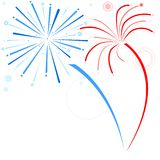 Fireworks. Holiday Background Illustration, Vector Royalty Free Stock Photography