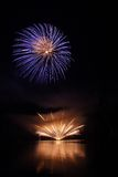 Fireworks. Beatiful  colorful fireworks in night scene Royalty Free Stock Photography