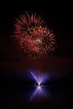 Fireworks. Beatiful  colorful fireworks in night scene Royalty Free Stock Images