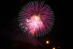 Fireworks. Show in Staggia, Tuscan Stock Image