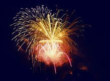 Fireworks. In the sky at new years event Royalty Free Stock Photography