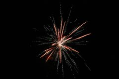 Fireworks. On the fourth of july at night Royalty Free Stock Photography