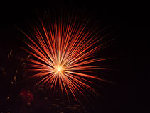 Fireworks. Colorful Fireworks and light show Royalty Free Stock Photography