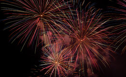 Fireworks. Colorful Fireworks and light show Stock Photo