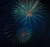 Fireworks. Colorful Fireworks and light show Stock Images