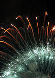 Fireworks exploding in sky Stock Images