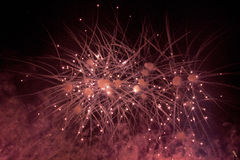 """Fireworks. The end of the """"Rock Loves Chopin show from Bucharest Royalty Free Stock Images"""