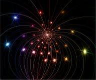 Fireworks. Abstract fractal on black background Stock Image