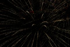 Fireworks. On dark sky background Royalty Free Stock Photo