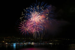 Fireworks. Colorful fireworks on the 9 of may in Sevastopol, Ukraine Royalty Free Stock Photos