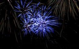 Fireworks. Spouting fireworks on the river Vltava in Prague Stock Photos