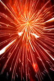 Fireworks. Red firework taken at Lewes Bonfire celebrations Royalty Free Stock Photography
